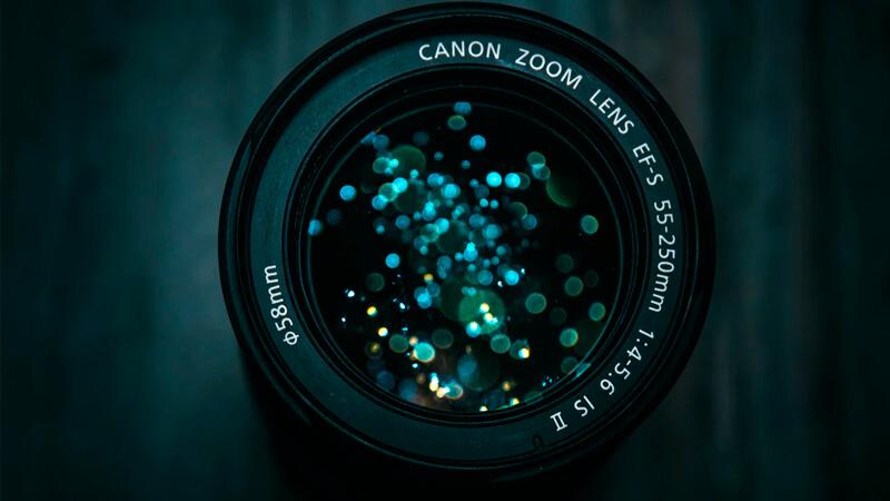 Lente de cámara de fotos