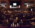 La sala teatro de Movie casi a pleno durante el primer módulo del Social Media Day. Foto: Diego Olivera para Universidad ORT Uruguay.