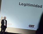 Gabriel Pereyra durante el Social Media Day. Foto: Universidad ORT Uruguay.