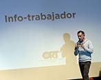 Gustavo Lento Navarro durante el Social Media Day. Foto: Universidad ORT Uruguay.