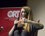 Jana Rodríguez Hertz durante el Social Media Day. Foto: Universidad ORT Uruguay.