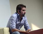 Diego Muñoz durante el Social Media Day. Foto: Universidad ORT Uruguay.