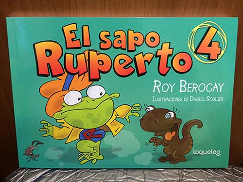 Tapa de El Sapo Ruperto 4. Ilustración de Daniel Soulier.