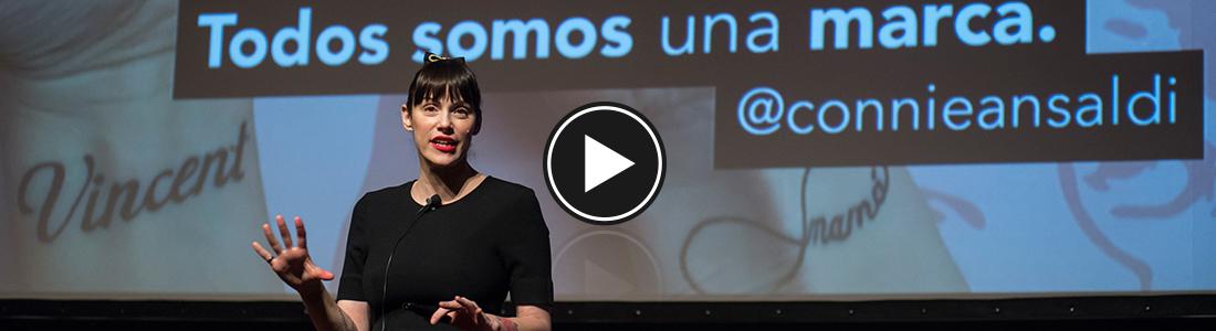 Connie Ansaldi en el Social Media Day. Foto: Universidad ORT Uruguay.