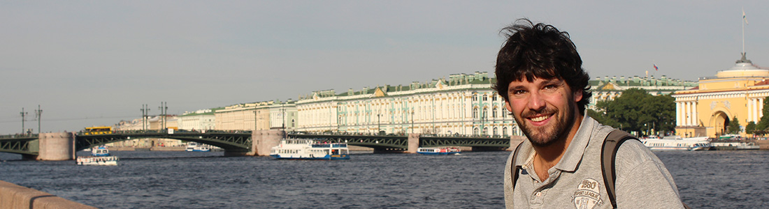 Nicolás Kronfeld en San Petersburgo. Foto: gentileza.