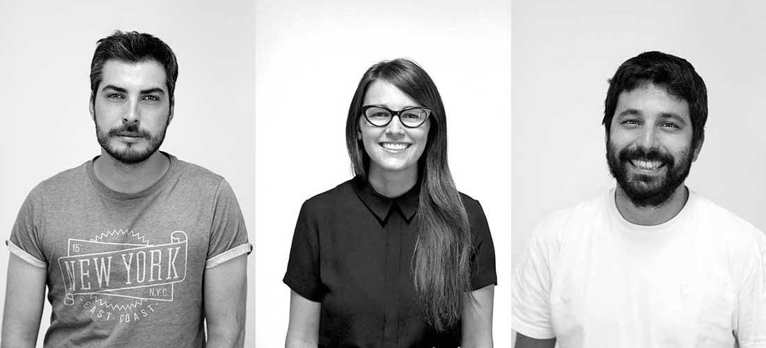 *Fabricio D'Agata, Lucía Martínez y Miguel Vallvé, socios directores de Ameba.*