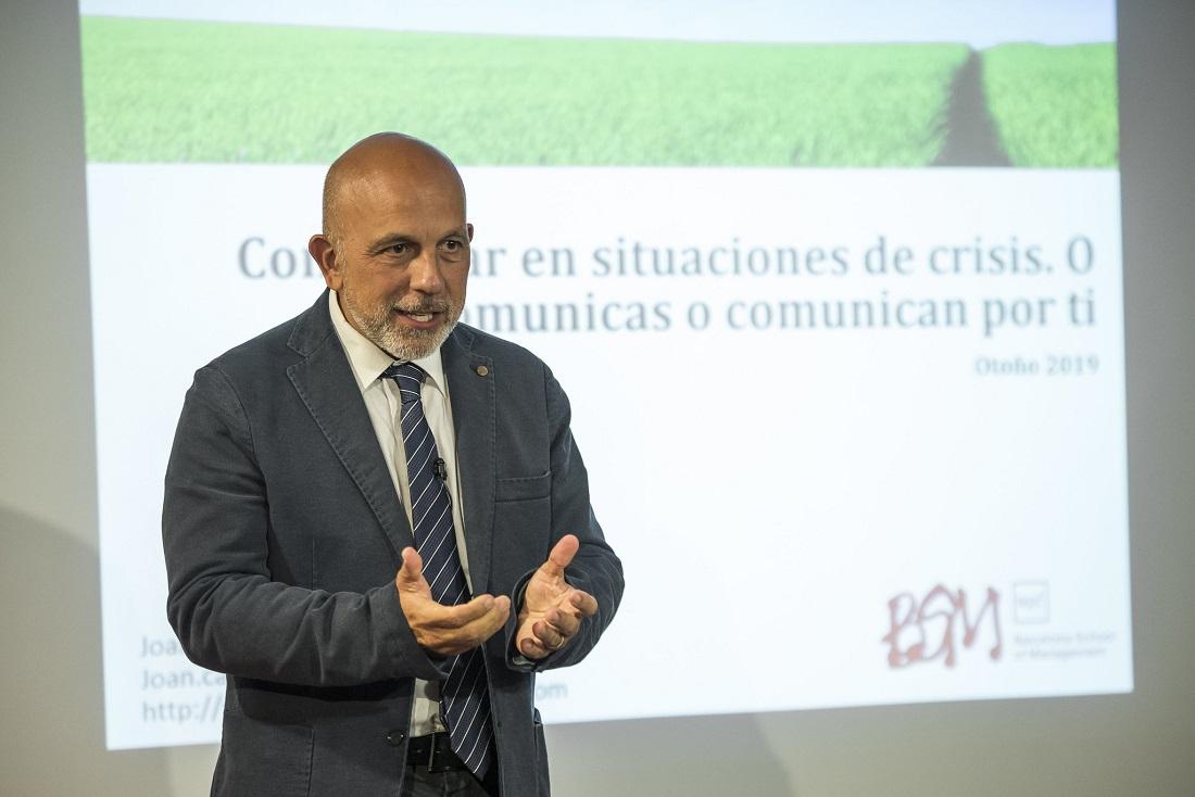 *Joan Francesc Cánovas en su visita a ORT (setiembre, 2019).*